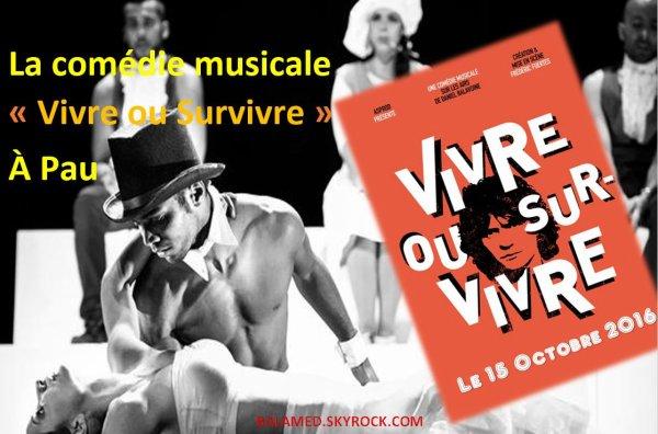 La comédie musicale Vivre ou Survivre à Pau le samedi 15 octobre 2016
