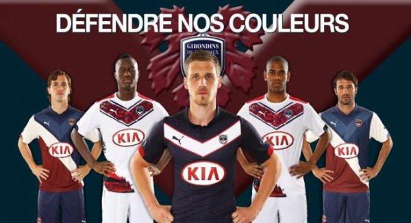 les 3 maillots des Girondins pour la saison 2014/2015