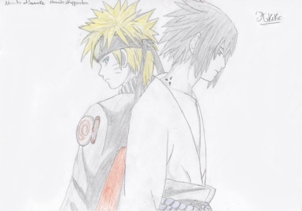 Dessin : Naruto & Sasuke.