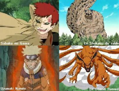 Gaara transformer en demon du sable et naruto en renard a - Naruto renard ...