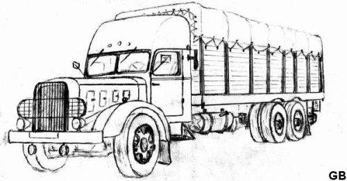 Dessin perso camions d 39 antan et actuel - Dessin de camion americain ...
