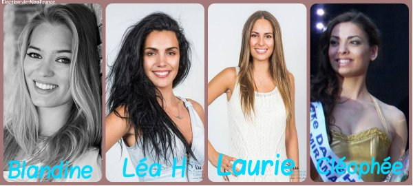 Candidates Miss Provence 2015