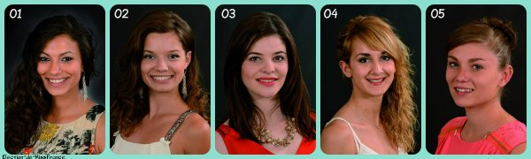Candidates Miss Limousin 2015