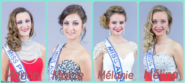 Candidates Miss Nord-Pas-de-Calais 2015