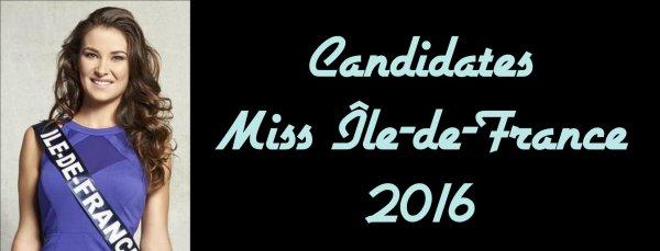candidates miss le de france 2016 election de miss france. Black Bedroom Furniture Sets. Home Design Ideas