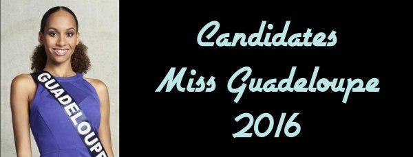 Candidates Miss Guadeloupe 2016
