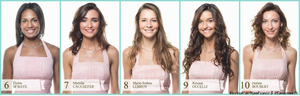 Candidates Miss Picardie 2016