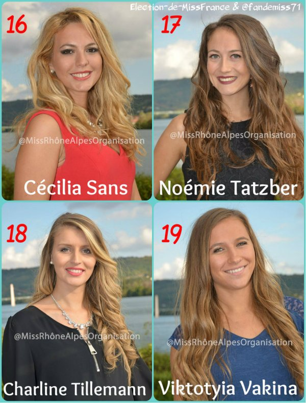 Candidates Miss Rh�ne-Alpes 2016