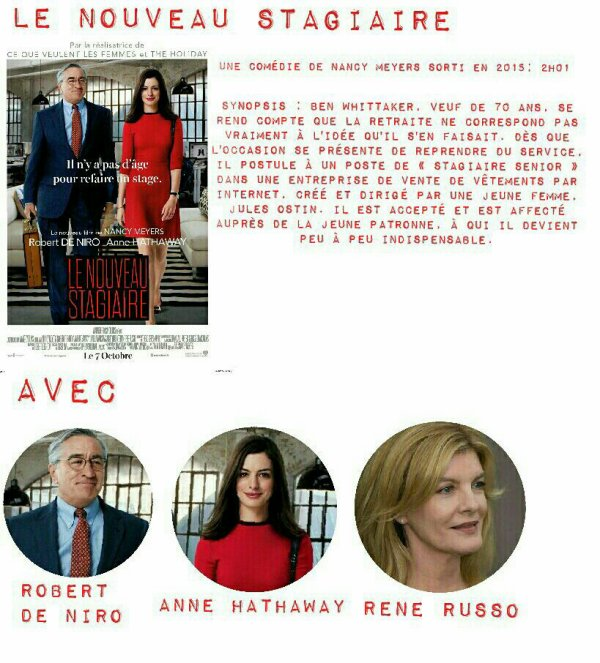 Anne Hathaway Robert De Niro Movie: Le Nouveau Stagiaire