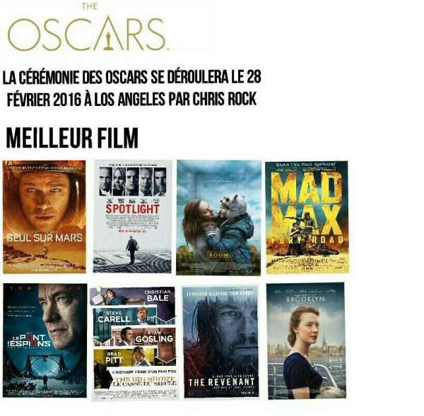Oscars 2016 : Nominations