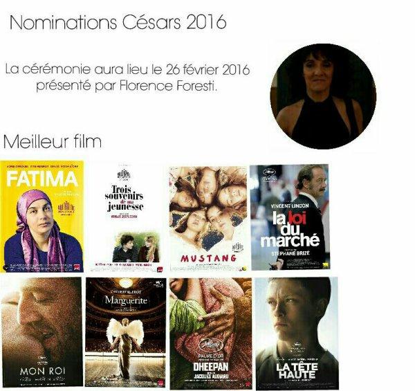 Nominations C�sars 2016
