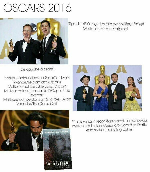 Palmar�s C�sars et Oscars 2016