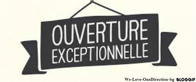 La boutique est OUVERTE !!! =)