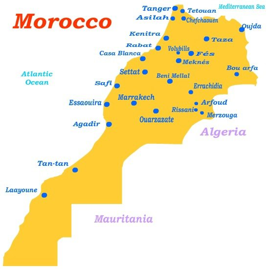 morocco world map dzone