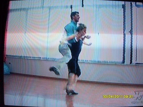 Shpati Isida gjat� provave ne Dancing With The Stars