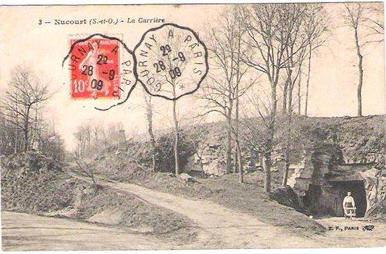 Entr�e de la carri�re souterraine en 1909