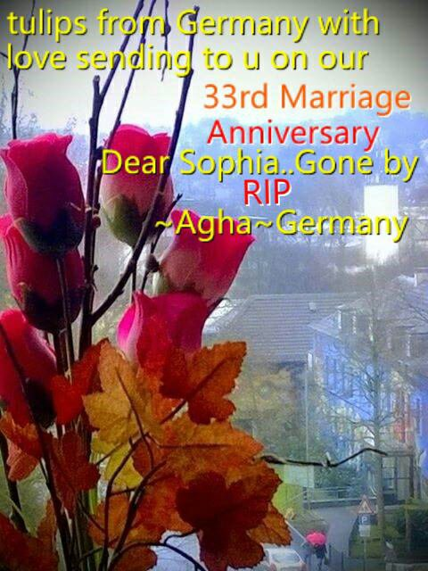 HAPPY 33RD MARRIAGE ANNIVERSARY SOPHIA HASSAN LATIFI PTV PRESIDENT AGHA HASSAN SYED AND JAMAL TAKKKO