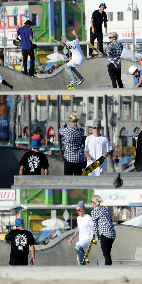 Justin faisant du skateboard