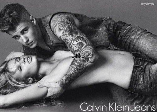 Justin la nouvelle égérie de Calvin Klein