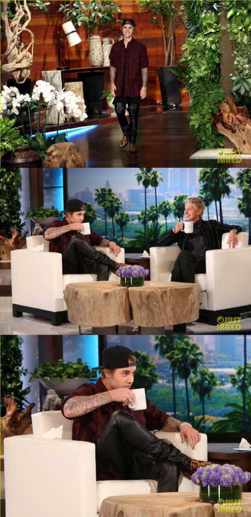Justin au Ellen Show