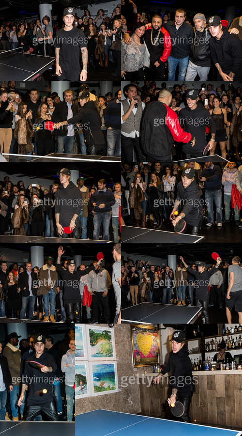 Justin à un tournoi de ping pong à New York