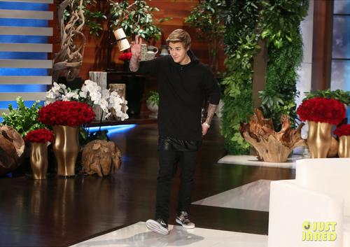 Photos de Justin au Ellen Show