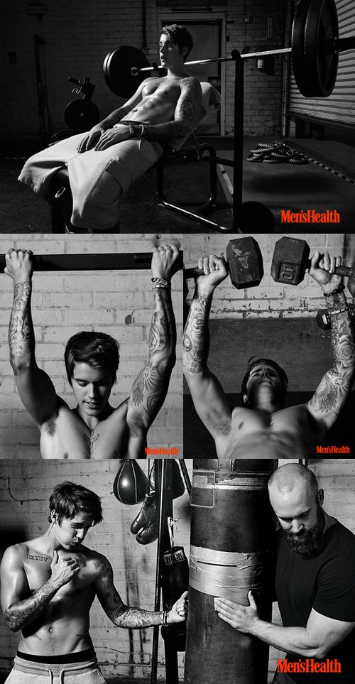 Justin pour le magazine Men's Health