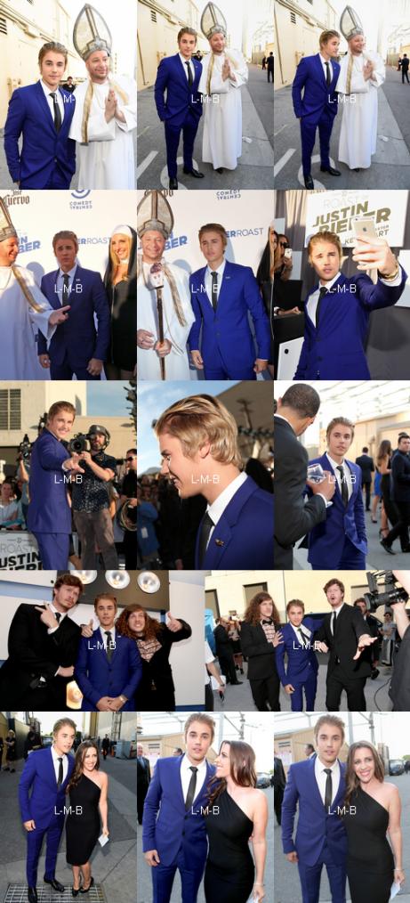 Justin sur le tapis du Bieber Roast