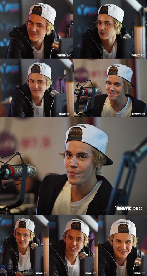 Justin sur la radio Hits 97.3