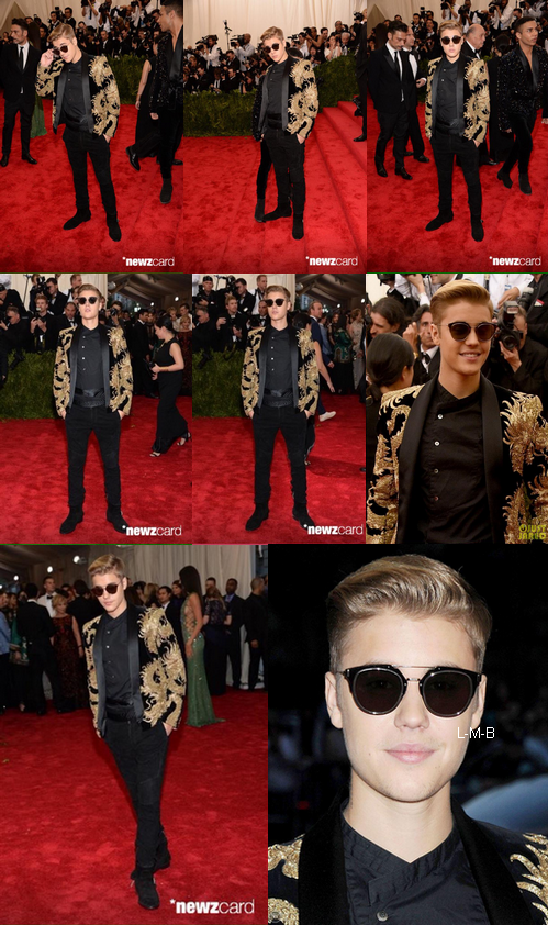 Justin au MET Gala � New York