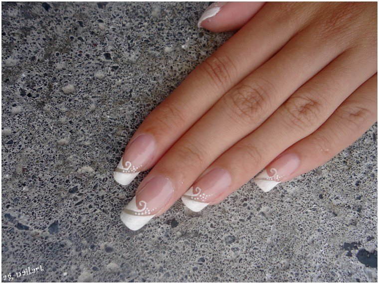 nail art mariage french manucure par tartofraises mon univers nail art sur ongles naturels. Black Bedroom Furniture Sets. Home Design Ideas