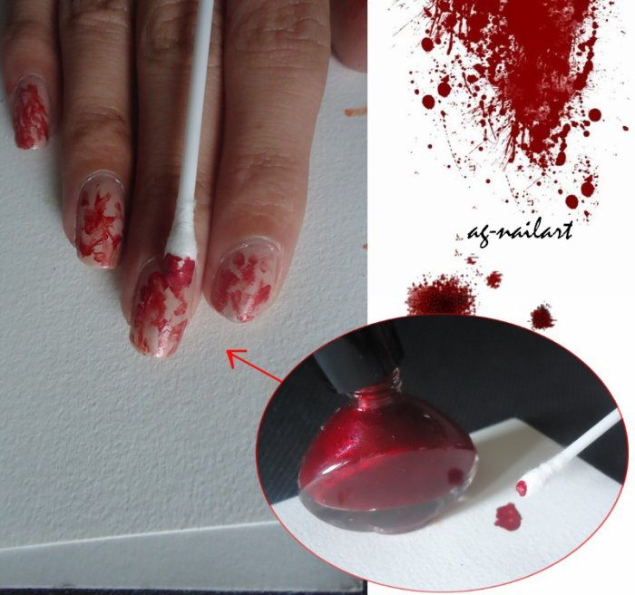 nail art halloween n 1 vampire mon univers nail art sur ongles naturels. Black Bedroom Furniture Sets. Home Design Ideas