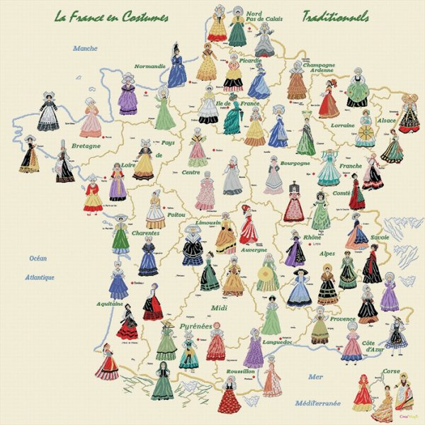 Les r�gions de France et leurs cultures