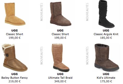 ugg boots prix