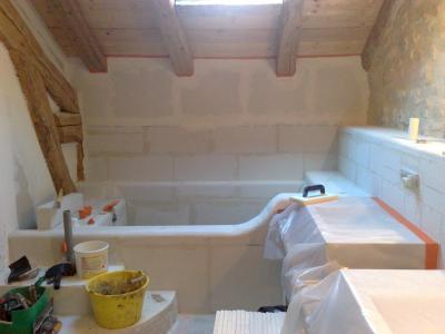 salle de bain en tadelakt - constructions décologique