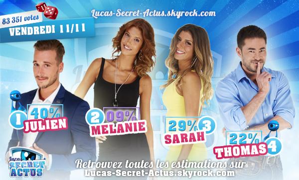 #ESTIMATION - Semaine 11 - Demi-Finale : Julien/Mélanie/Sarah/Thomas