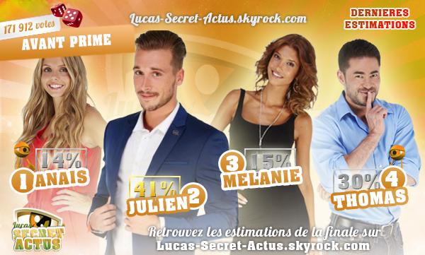 #ESTIMATIONS - FINALE SS10 : Anais/Julien/Mélanie/Thomas