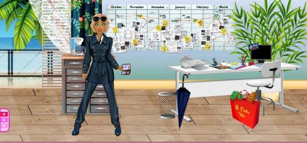 Isabelle travaille dans son bureau � Grasse