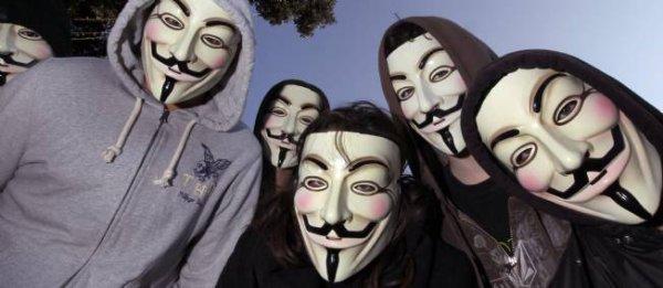 Nous sommes Anonymous. Nous sommes L�gion. Nous ne pardonnons pas. Nous n'oublions pas. redoutez-nous