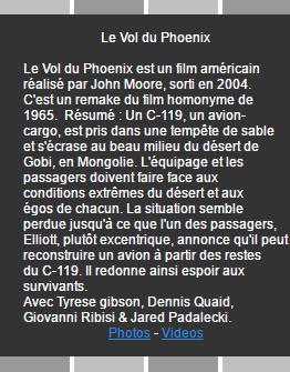 Le vol du phoenix & Treize � la douzaine on world-wide