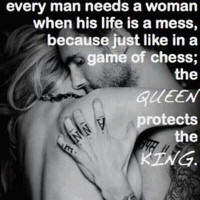 Just like in Chess;The Queen Protects The King.