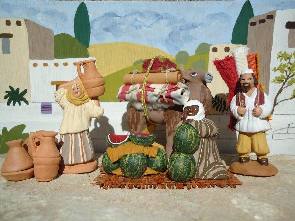 le marchand de pasteques cr ation 2012 santons lou christou. Black Bedroom Furniture Sets. Home Design Ideas