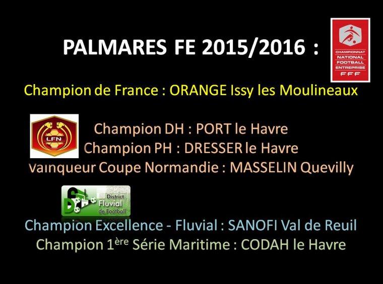 2016 - PALMARES 2015/2016