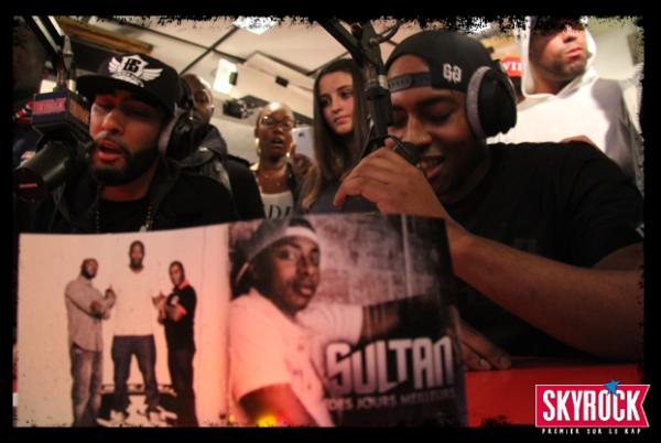 Sultan dans Plan�te Rap sur Skyrock avec La Fouine comme invit�