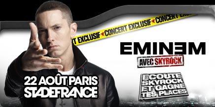 Achete  MAINTENANT tes places pour le concert EVENEMENT D'EMINEM AVEC #SKYROCK.