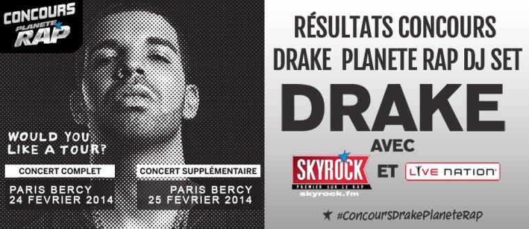 Fin du concours Drake Planète Rap DJ set! (Résultats)