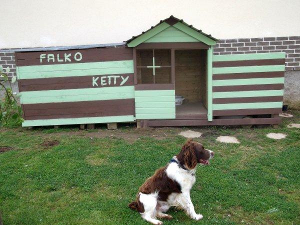 Nouvelle niche pour mes chiens blog de xavier62560 - Niche chien palette ...