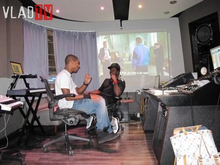 Pharrell en studio avec Pusha T - Septembre 2010