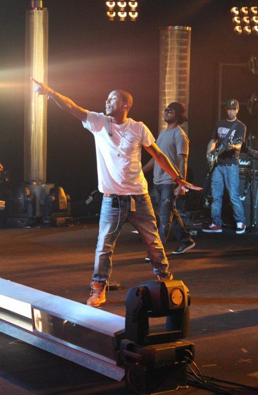 "N.E.R.D Tournage de ""L'album de la semaine"" - 4 octobre 2010"
