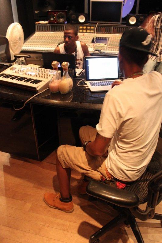 Studio avec Fabolous - Juillet 2011